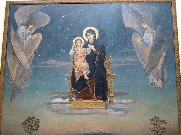 Vicktor Vasnetsov, Russian Museum. The seraphim levitate on either side of the Throne of Jesus dans immagini sacre gentle13