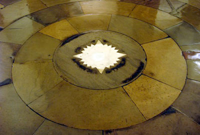 Star in Crypt center at  rotunda, US Capitol Building by William Henry