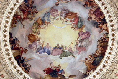 G Washington Rotunda ceiling, US Capitol Building by Wm Henry