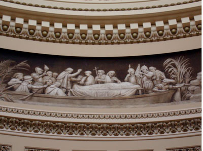 frieze of Rotunda 3-D mastery, US Capitol Building by Wm Henry