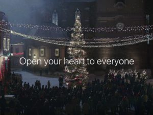 FRANKIE'S HOLIDAY : APPLE DECLARES WE SHOULD LOVE EVERYONE…INCLUDING MONSTROUS TRANSHUMANS