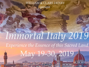 IMMORTAL ITALY 2019 : A TIMELESS SPIRITUAL JOURNEY AND ASCENSION PILGRIMAGE TO THE HEART AND SOUL OF ITALY.